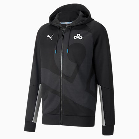 PUMA x CLOUD9 Replica Men's Esports Hoodie, Puma Black-Gray Violet, small