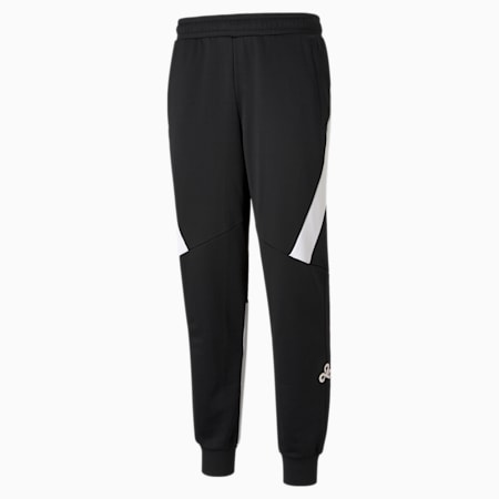PUMA x CLOUD9 Replica Men's Esports Pants, Puma Black-Puma White, small-GBR