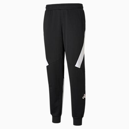 Réplica de pantalones deportivos PUMA x CLOUD9 para hombre, Puma Black-Puma White, pequeño