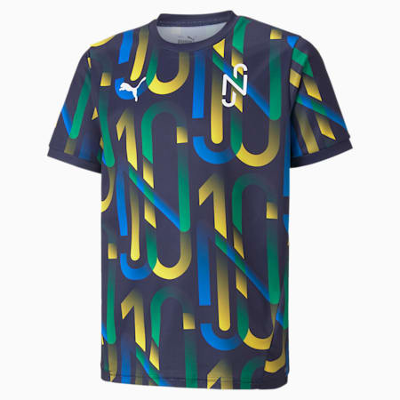 Maglia da calcio Neymar Jr Future Youth stampata, Peacoat-Dandelion, small