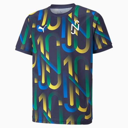 Neymar Jr Future Printed Youth Football Jersey, Peacoat-Dandelion, small