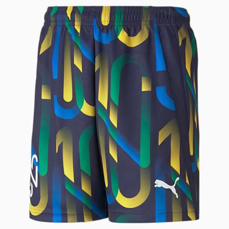 Shorts da calcio Neymar Jr Future Youth stampati, Peacoat-Dandelion, small