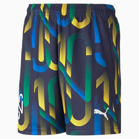 Shorts de fútbol Neymar Jr Future Printed para jóvenes, Peacoat-Dandelion, small