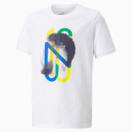 Neymar Jr Future voetbal T-shirt voor jongeren, Puma White, small