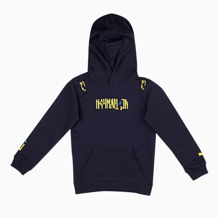 Neymar Jr. Hero Kids Hoody, Peacoat-Dandelion, small-IND