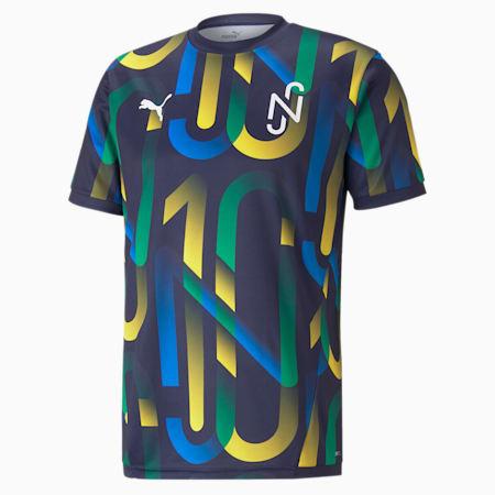 Neymar Jr Future Printed Men's Football Jersey, Peacoat-Dandelion, small-SEA