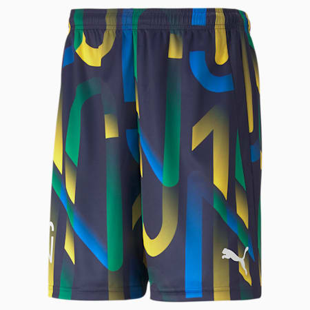 Neymar Jr Future Printed Men's Football Shorts, Peacoat-Dandelion, small