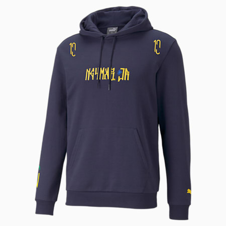 Neymar Jr. Hero Men's Hoodie, Peacoat-Dandelion, small