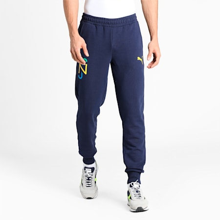 Neymar Jr. Hero Men's Sweat Pants, Peacoat-Dandelion, small-IND