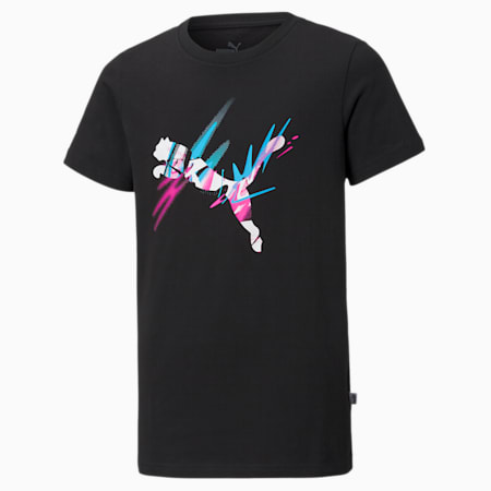 Neymar Jr Creativity Jugend T-Shirt, Puma Black, small