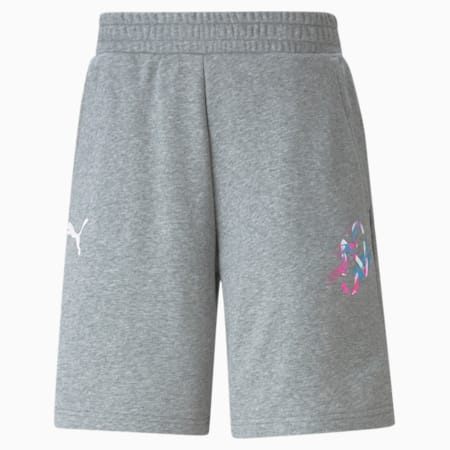 네이마르 주니어 크리에이티브 로고 쇼츠 반바지/NEYMAR JR CREATIVITY Shorts, Medium Gray Heather, small-KOR