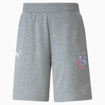 Neymar Jr Creativity Men's Shorts, Medium Gray Heather, small