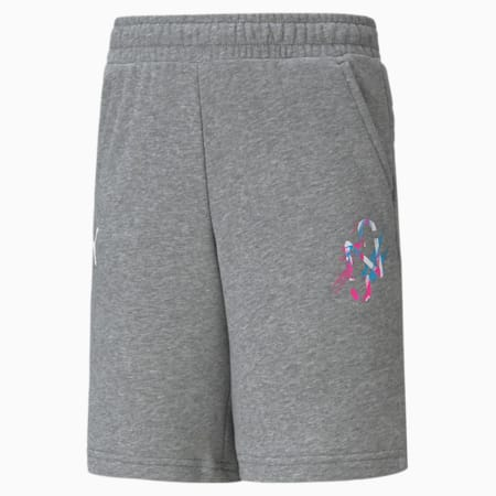 Neymar Jr Creativity Youth Shorts, Medium Gray Heather, small