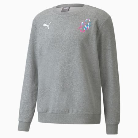 Neymar Jr Creativity Crew Neck Men's Sweater, Medium Gray Heather, small