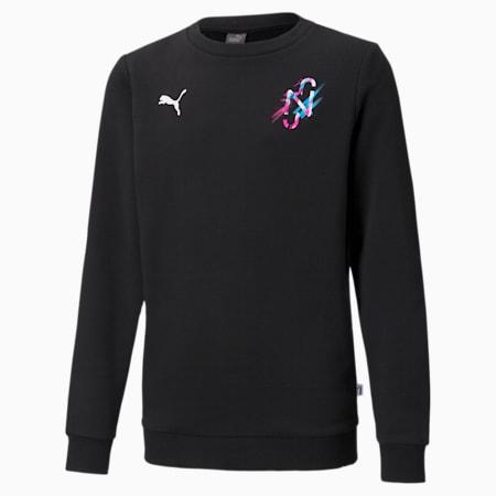 Neymar Jr Creativity Crew Neck Youth Sweater, Puma Black, small