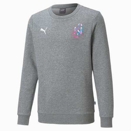 Neymar Jr Creativity Crew Neck Youth Sweater, Medium Gray Heather, small