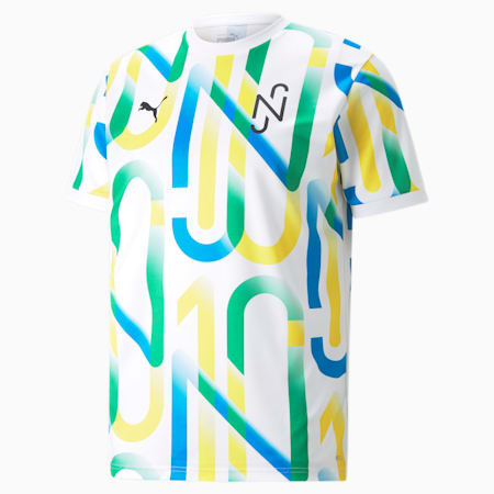 Neymar Jr Graphic Men's Jersey, Puma White, small-GBR