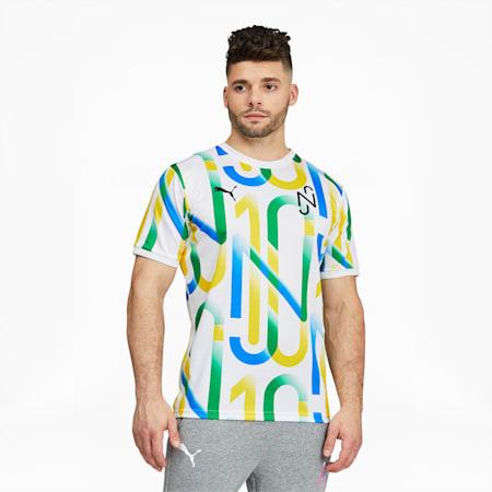 Camiseta con estampado NeymarJr para hombre, Puma White, pequeño