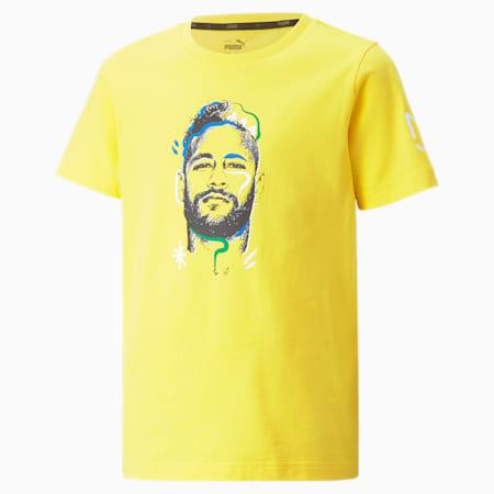 Młodzieżowy T-shirt z grafiką Neymar Junior Copa, Dandelion, small