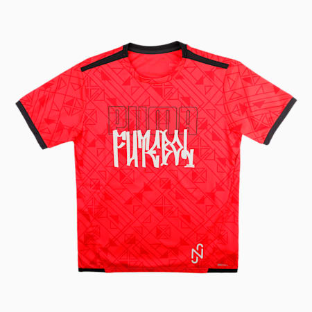 Neymar Jr. Futebol Men's Jersey, Sunblaze-Ebony, small-IND