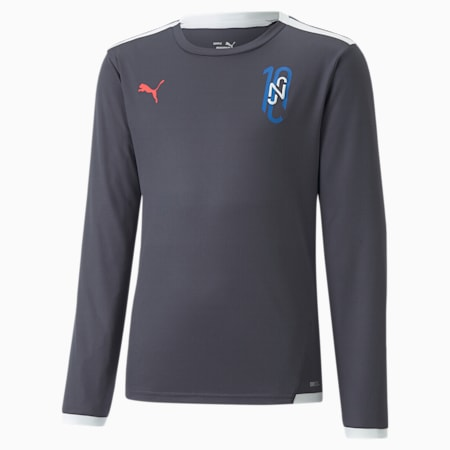 Neymar Jr Youth Futebol Long Sleeve Jersey, Ebony, small-GBR