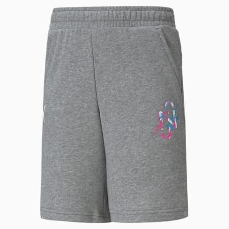 Neymar Jr. Creativity Kid's Shorts, Medium Gray Heather, small-IND