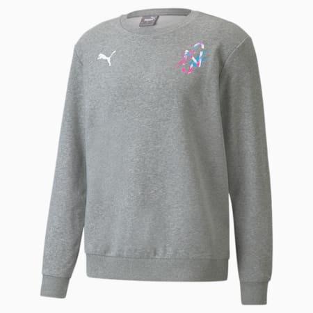 Neymar Jr Creativity Crew Neck Men's Sweater, Medium Gray Heather, small-SEA