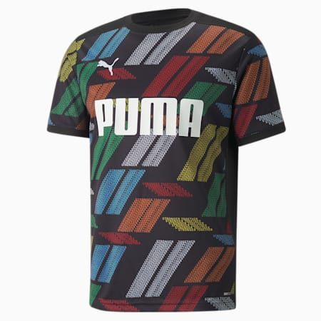 Stronger Together Printed Men's Football Jersey, Puma Black, small
