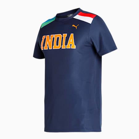 PUMA Cricket Men's T-Shirt, India Ink, small-IND