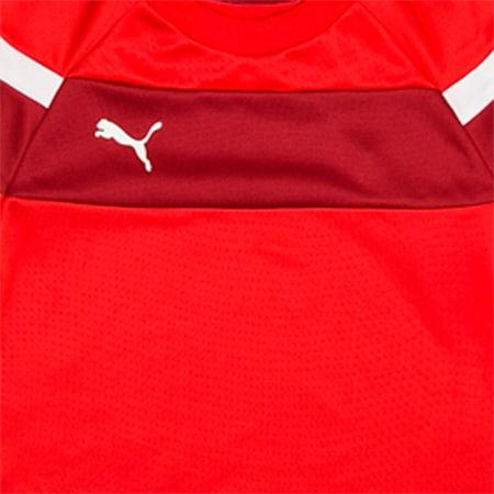 Football Spirit II Training Sweater, puma red-white, small-IND