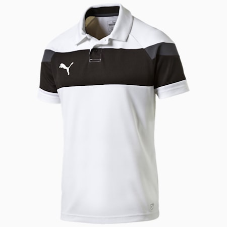 Football Spirit II Polo, white-black, small-IND