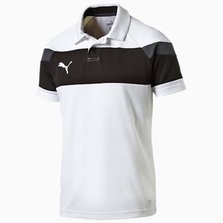 Football Spirit II Polo, white-black, small-IND