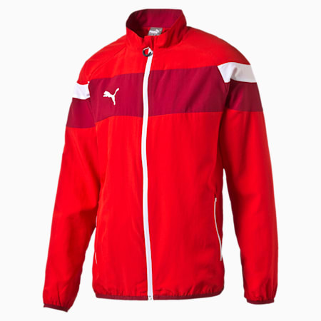 Spirit II Woven Jacket, puma red-white, small-IND