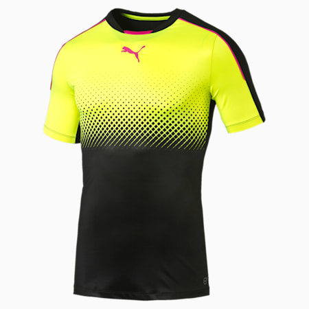 evoTRG THERMO-R ACTV Men's Football T-Shirt, black-safety yellow, small-IND