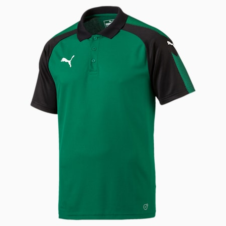 Football Men's Ascension Training Polo, Power Green-Puma Black, small-IND