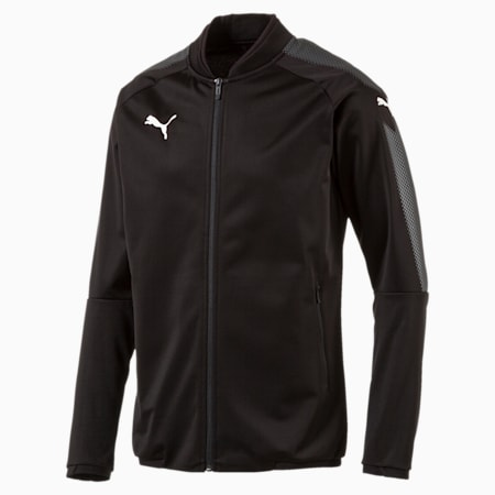 Football Men's Ascension Stadium Jacket, Puma Black-Puma Black, small-IND