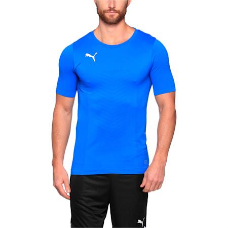 ftblTRG Men's evoKNIT Football Training T-Shirt, Puma Royal-Puma White, small-IND