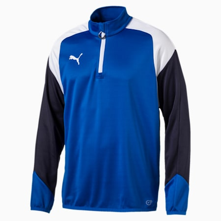 Esito 4 1/4 Zip Training Top, Puma Royal-White-New Navy, small-IND