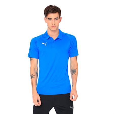 FINAL Sideline Men's Polo Shirt, Electric Blue L-Puma Black, small-IND