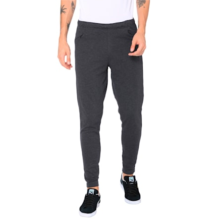 FINAL Casuals Knitted Men's Football Pants, Dark Gray Heather, small-IND