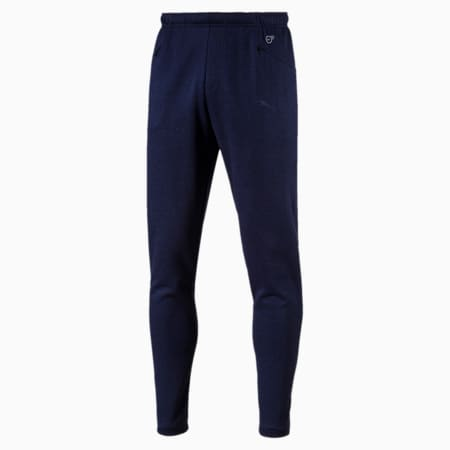 FINAL Casuals Knitted Men's Football Pants, Peacoat Heather, small-IND