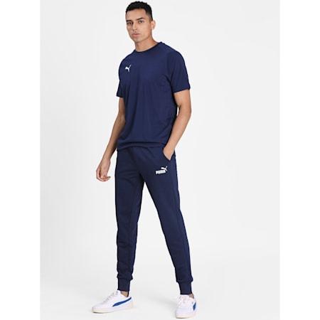LIGA Casuals Short Sleeve Men's Football Tee, Peacoat-Puma White, small-IND
