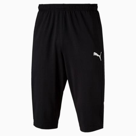 LIGA Knitted 3/4 Men's Football Pants, Puma Black-Puma White, small-SEA