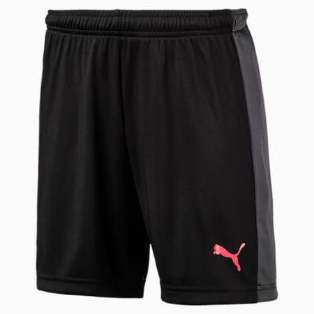 evoTRG Kids' Football Training Shorts, Puma Black-Ebony-Fiery Coral, small-IND