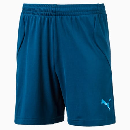 ftblTRG Kids' Football Training Shorts, Sailor Blue-Atomic Blue, small-IND