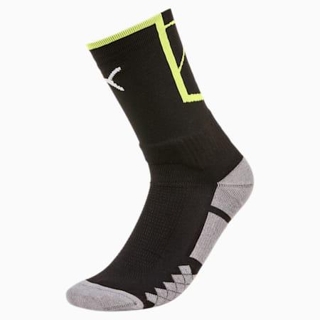 Men's ftblNXT Socks, Puma Black-Fizzy Yellow, small-IND