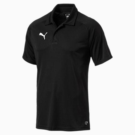LIGA Sideline Men's Polo Shirt, Puma Black-Puma White, small-IND