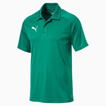 LIGA Sideline Men's Polo Shirt, Pepper Green-Puma White, small-SEA