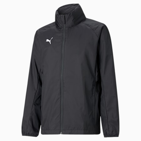 LIGA Training Full Zip Kids' Rain Jacket, Puma Black-Puma White, small