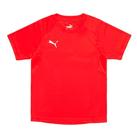 주니어 리가 트레이닝 반팔 티셔츠/LIGA Training Jersey Jr, Puma Red-Puma White, small-KOR